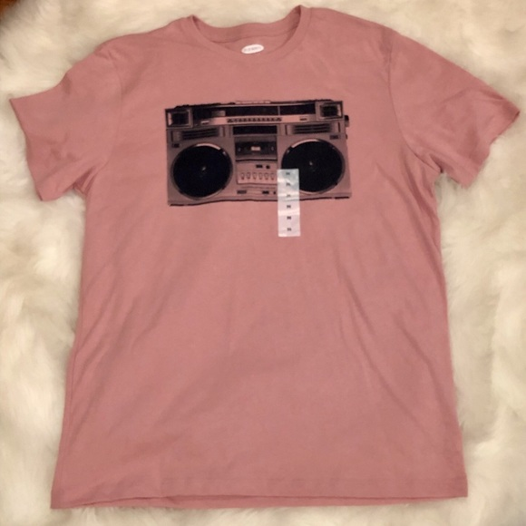 Old Navy Other - 🎉HP🎉 Pink Boom Box T-Shirt Unisex